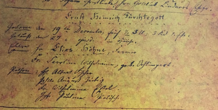 Ernst Hoehne baptism record Immanuel Altenburg MO