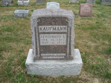 Ferdinand Kaufmann gravestone Trinity Altenburg MO