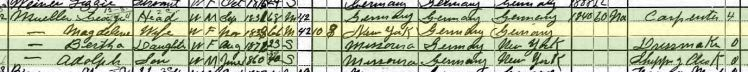George Mueller 1900 census St. Louis MO