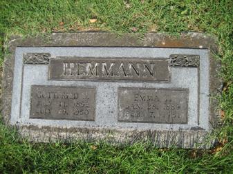 Gottfried and Emma Hemmann gravestone Grace Uniontown MO