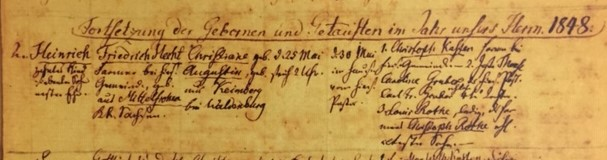 Henry Hecht baptism record Grace Uniontown MO
