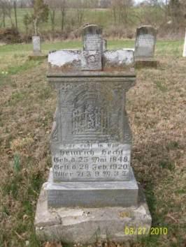Henry Hecht gravestone Grace Uniontown MO