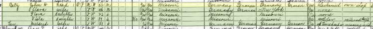 John Henry Betz 1920 census St. Louis MO