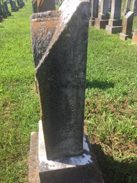 Katherine Brandes gravestone side Trinity Altenburg MO