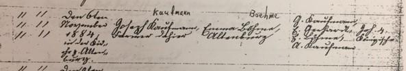 Kaufmann Boehme marriage record Trinity Altenburg MO