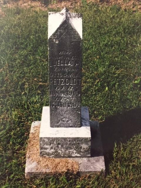 Luella Petzoldt gravestone St. Paul's Wittenberg MO