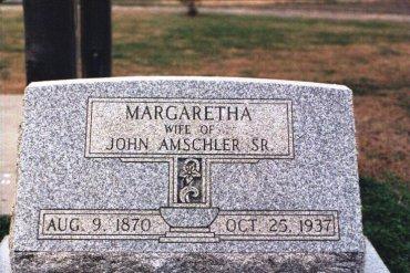 Margaretha Amschler gravestone Christ Jacob IL