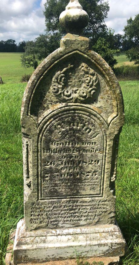 Maria Brandes gravestone Grace Uniontown MO