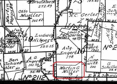 Martin G. Mueller land map 1915