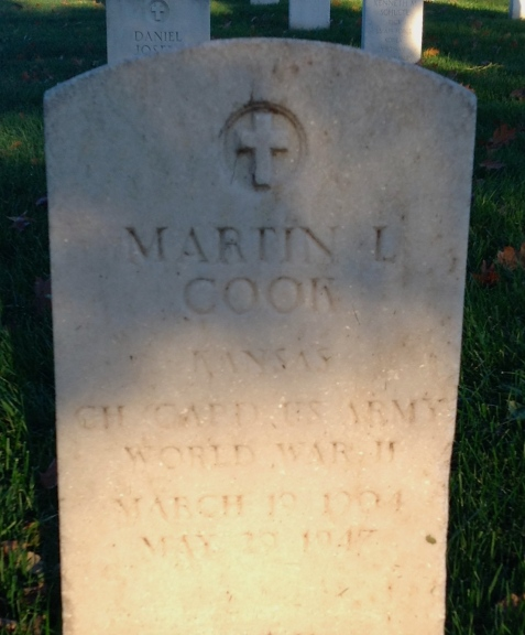 Martin Luther Cook gravestone Leavenworth National Cemetery