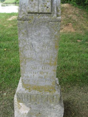 Martin Mueller gravestone Concordia Frohna MO