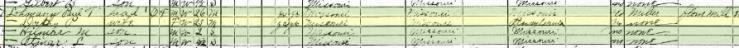 Paul Lohmann 1920 census Brazeau Township MO