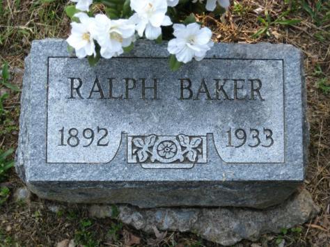 Ralph S Baker gravestone new Mount Carbon Murphysboro IL