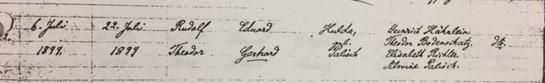 Rudolph Gerhardt baptism record Trinity Altenburg MO