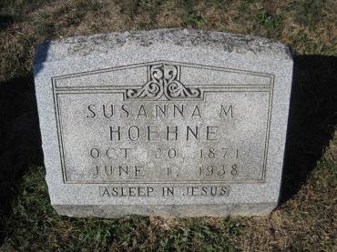 Susanna Hoehne gravestone Trinity Altenburg MO