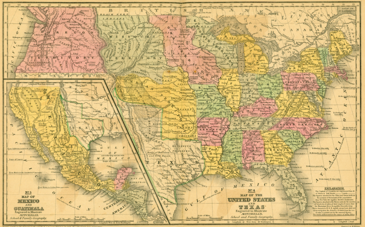 United States and Texas 1839