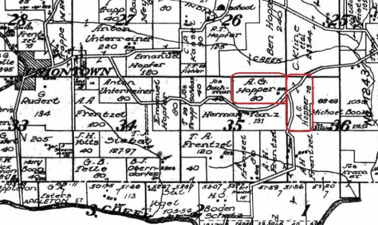 A G Hopfer land map 1915