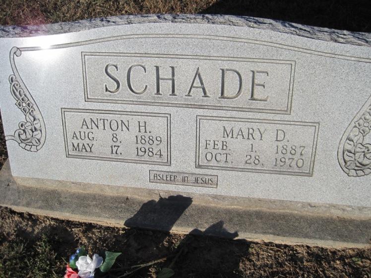 Anton and Mary Schade gravestone Immanuel Altenburg MO