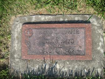 Arno Hopfer gravestone Grace Uniontown MO
