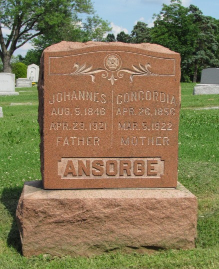B.J. and Concordia Ansorge gravestone Our Redeemer Afton MO