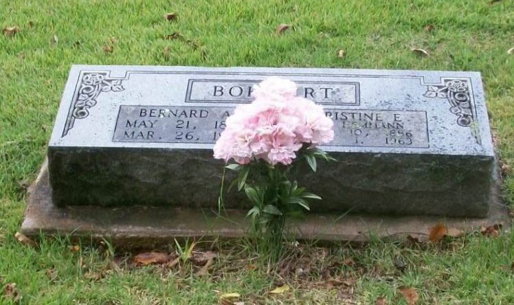 Bernard and Christine Bohnert gravestone Zion Longtown MO