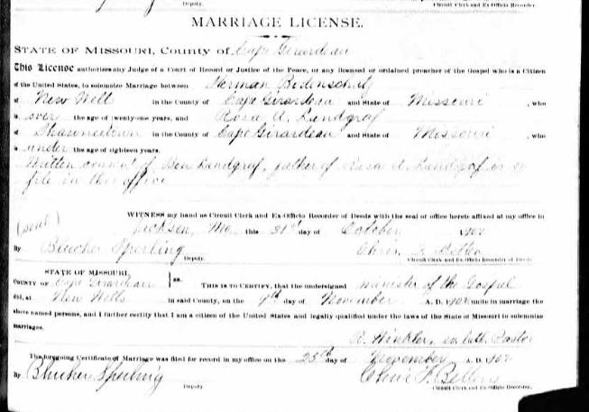 Bodenschatz Landgraf marriage license