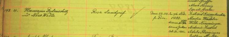 Bodenschatz Landgraf marriage record Immanuel New Wells MO
