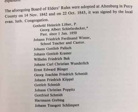 Elders Rules signatures