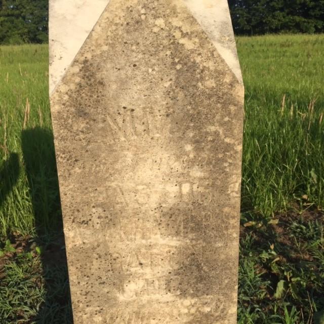 Emma Lueders Kramer gravestone close-up St. Paul's Wittenberg MO