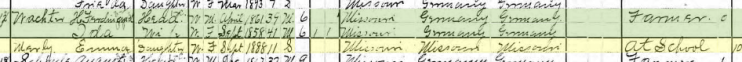 Emma Mirly 1900 census Brazeau Township MO