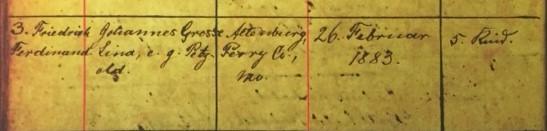 Friedrich Ferdinand Grosse baptism record Immanuel Altenburg MO