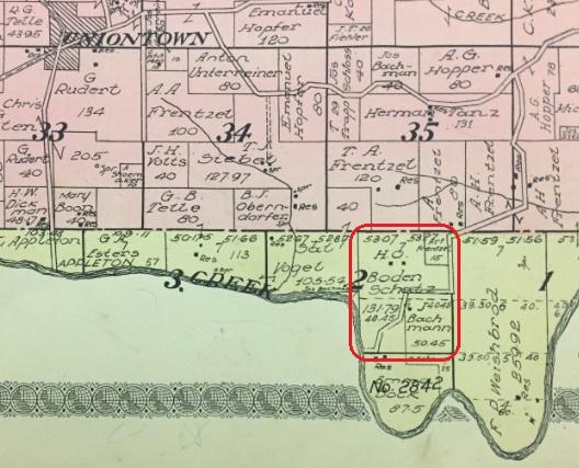 Henry Bodenschatz land map 1915