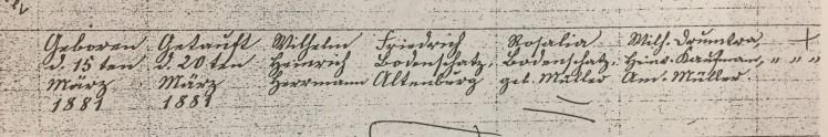 Herman Bodenschatz baptism record Trinity Altenburg MO