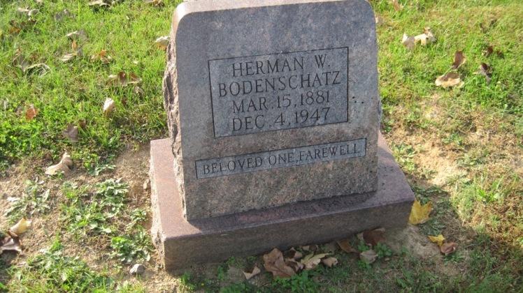 Herman Bodenschatz gravestone Trinity Shawneetown MO