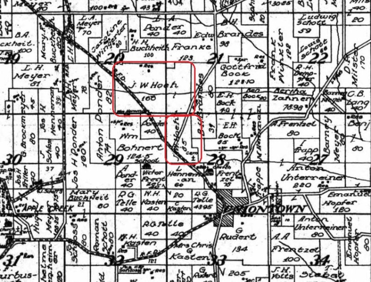 J W Hoeh land map 1915