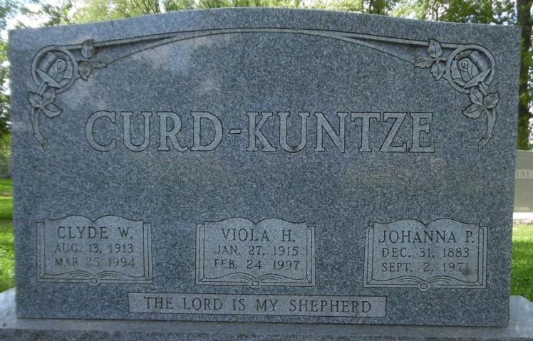 Johanna Kuntze gravestone St. Trinity St. Louis MO