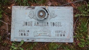 John Arthur Vogel gravestone Cape Memorial, Cape Girardeau MO