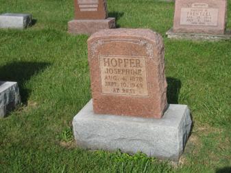 Josephine Hopfer gravestone Grace Uniontown MO