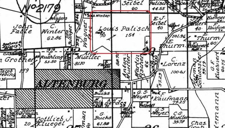 Louis Palisch land map 1915