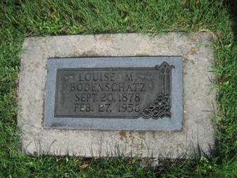Louise Bodenschatz gravestone Grace Uniontown MO