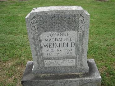 Magdalena Weinhold gravestone Concordia Frohna MO
