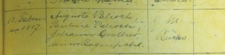 Marie Palisch baptism record 2 Immanuel Altenburg MO