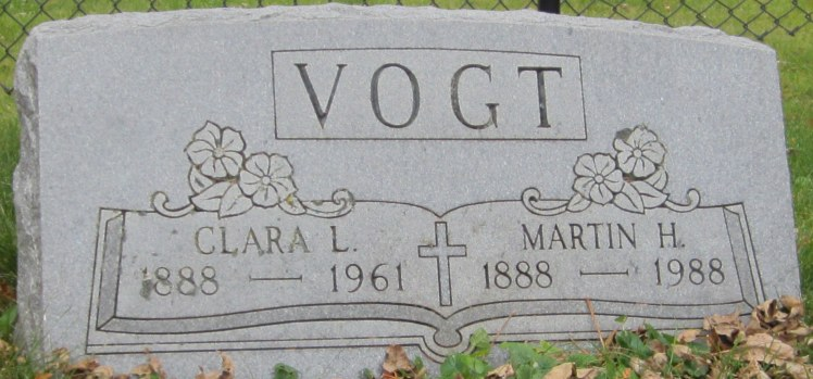 Martin and Clara Vogt Christ, Comstock WI