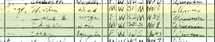 Martin Vogt 1940 census Crystal Lake WI