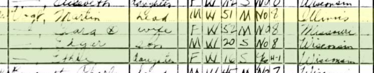 Martin Vogt 1940 census Crystal Lake WI