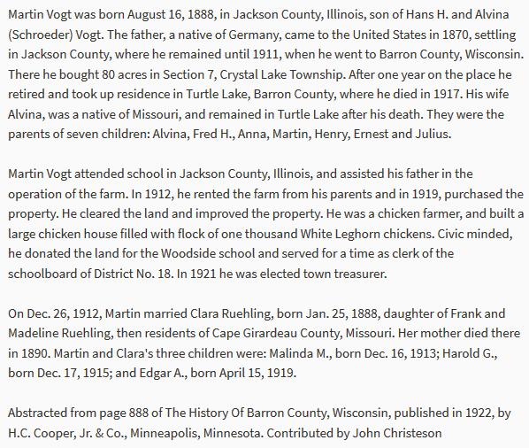 Martin Vogt biography