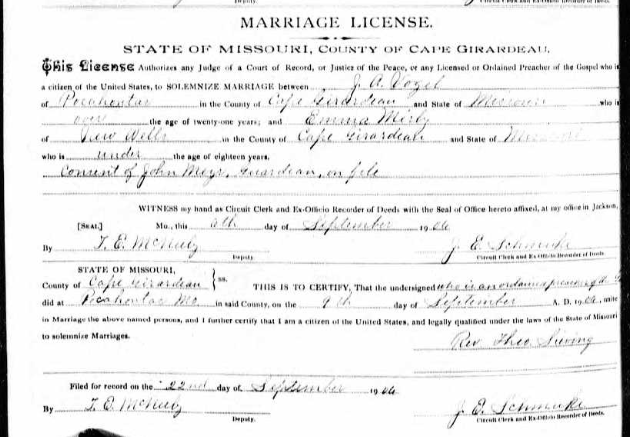 Vogel Mirly marriage license