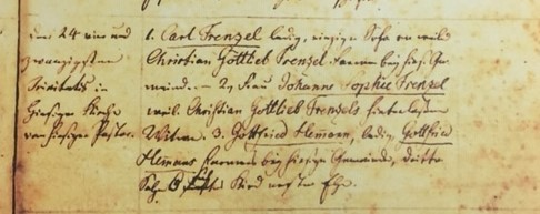 Wilhelmine Hemmann baptism record 2 Grace Uniontown MO