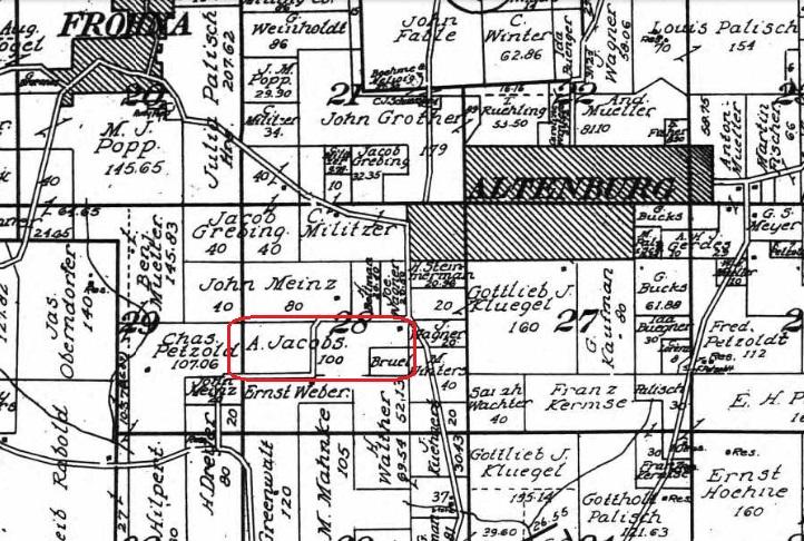 A Jacob land map - 1915