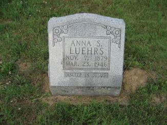 Anna Luehrs gravestone Salem Farrar MO